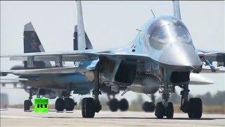Первая группа российских самолетов вылетела с авиабазы Хмеймим