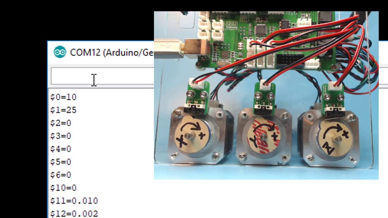 Arduino Grbl CNC Tutorial - 02 (Homing)