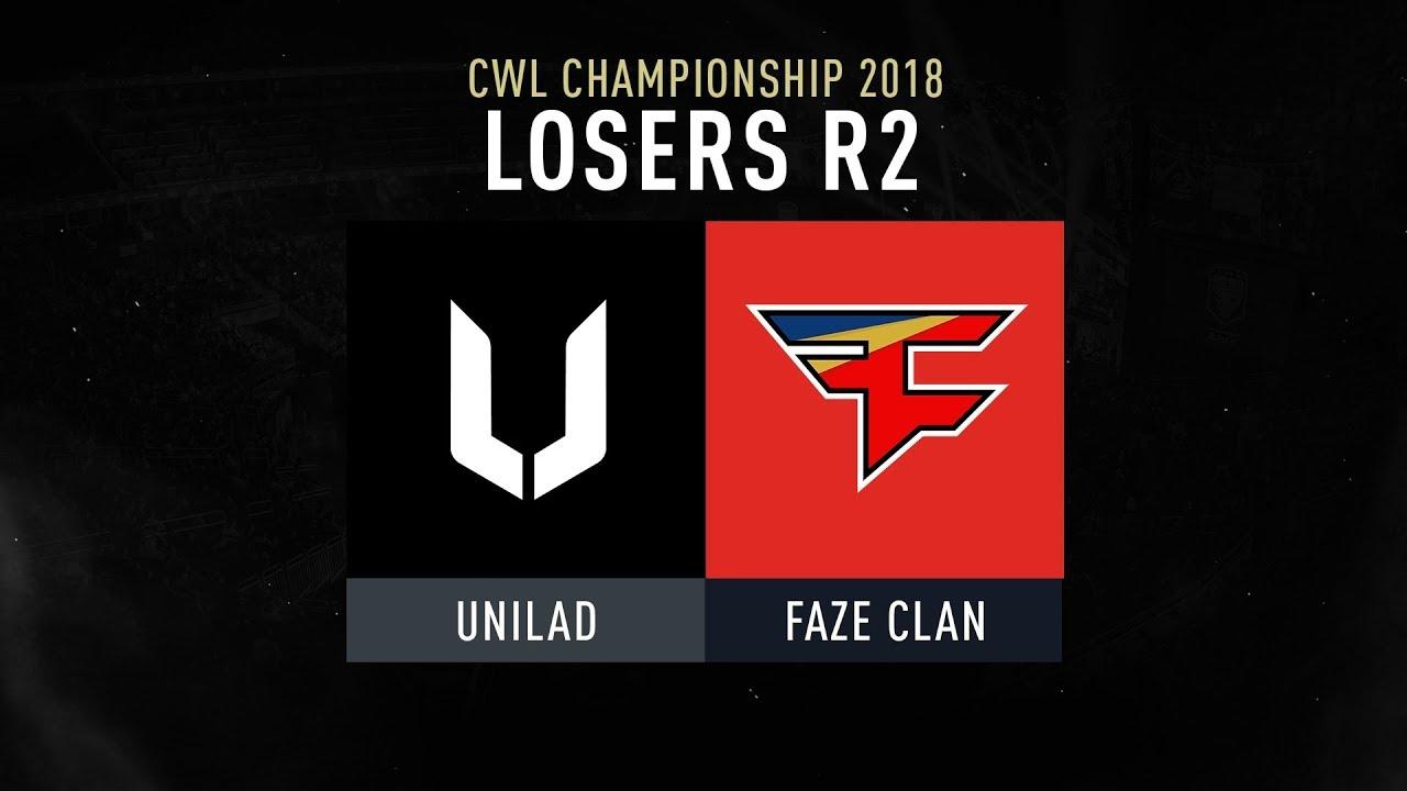 cod champs unilad vs faze clan losers r2 cwlchampslvp youtube