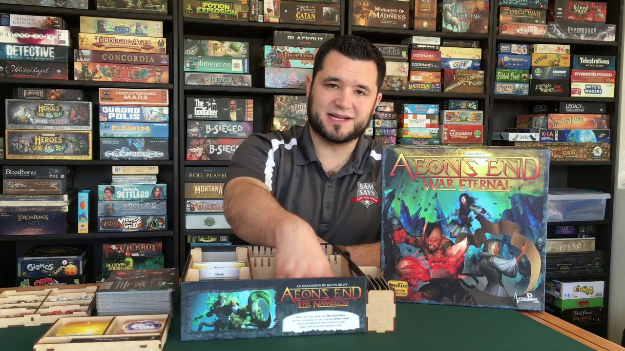Aeons End + War Eternal Insert Review by Go7 Gaming- Sam Says