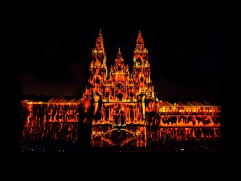 AMAZING 3D Mapping Catedral de Santiago Offical HD