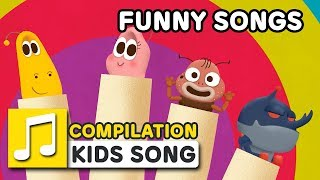 FUNNY SONGS | COMPILATION  | Nursery Rhymes | LARVA KIDS Songs for Children