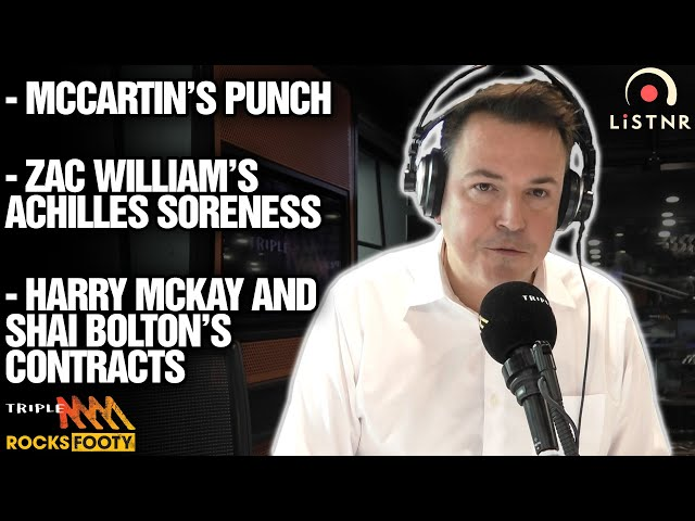 Tom Browne's News | Paddy McCartin In Strife, Contract News, Collingwood And More | Triple M Footy