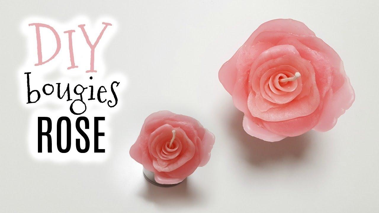 diy comment faire une bougie en forme de rose youtube. Black Bedroom Furniture Sets. Home Design Ideas