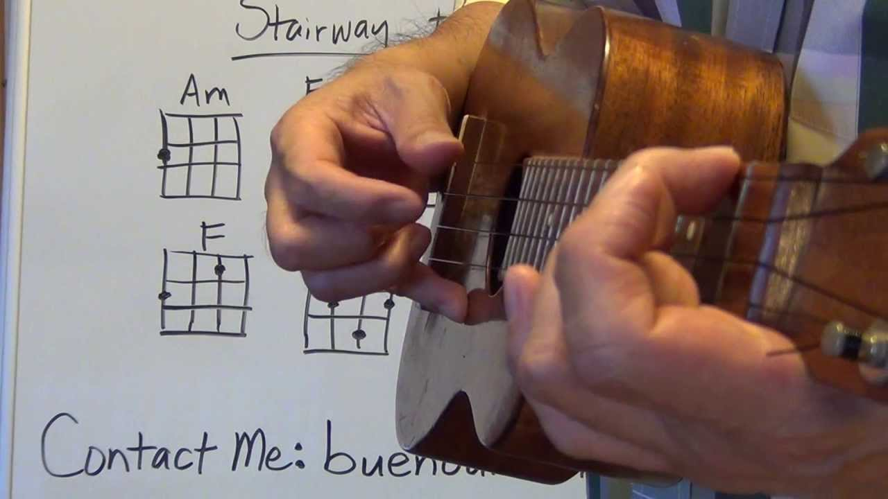 How To Play Stairway To Heaven Intro Ukulele Lessons Youtube