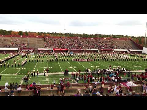 Halftime Show 1 of 2 - UMass Amherst Minuteman Marching Band - October 21, 2017