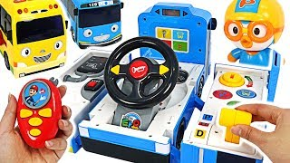 Tayo Transform Driving toy~! Let's catch the villain with Pororo police! #PinkyPopTOY