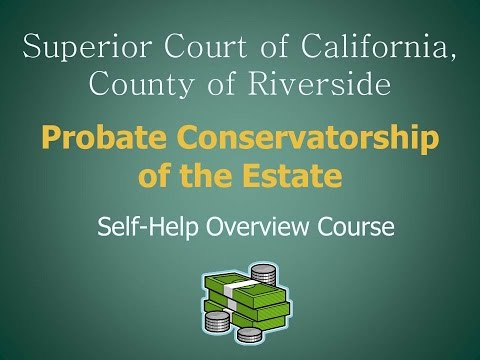 Conservatorship of the Estate