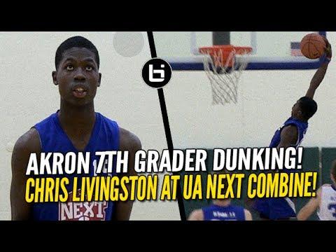 Akron 7th Grader Chris Livingston Dunks and Impresses at UA Next Combine!