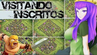 VISITANDO INSCRITOS #7 ANALISANDO VILAS,TROPAS E LAYOUTS :: DICAS DE UP NO CLASH OF CLANS