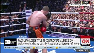 Manny Pacquiao upset by Jeff Horn