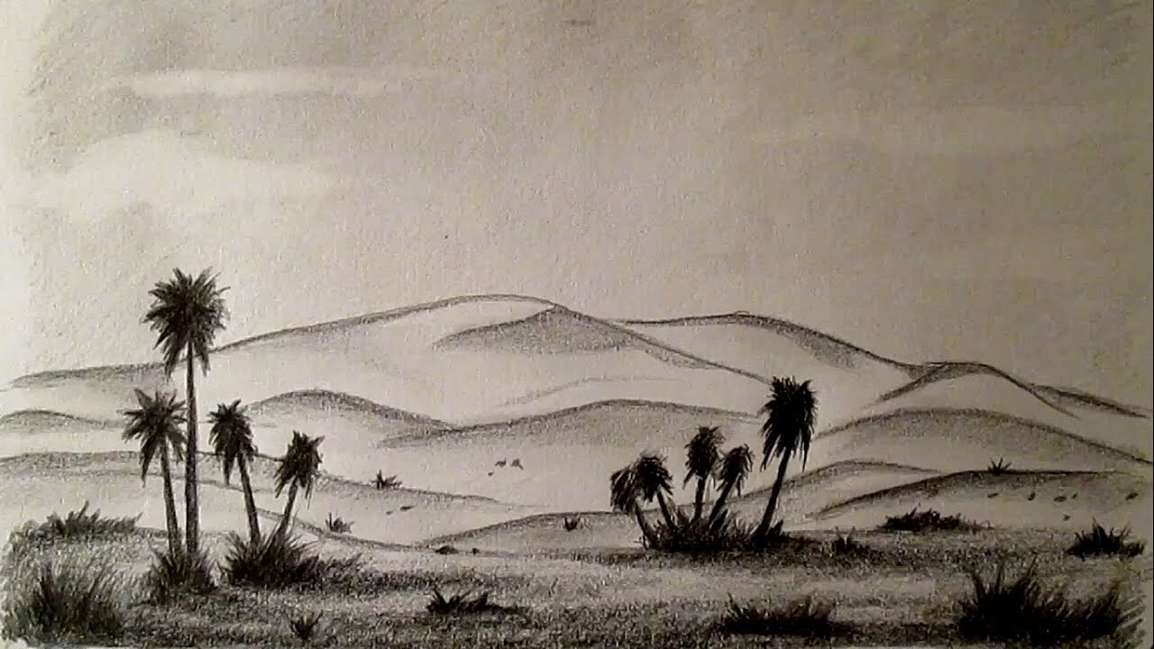 Cmo dibujar un desierto fcil paso a paso cmo dibujar paisajes