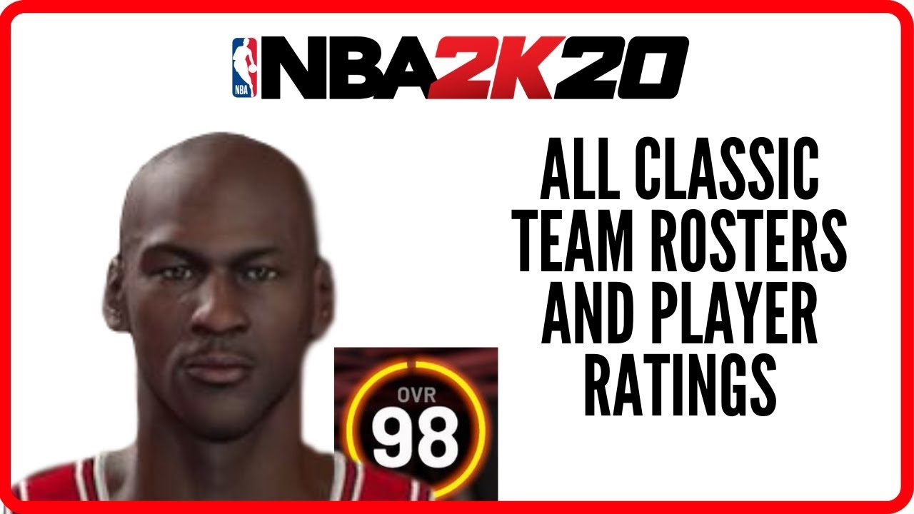 NBA 2K20 - All Classic Team Rosters And Player Ratings