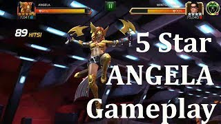 5 star angela gameplay marvel contest of champion