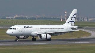 Aegean Airlines Airbus 320 landing at Vienna Airport   SX-DGV