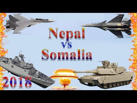 Nepal vs Somalia Military Comparison 2018