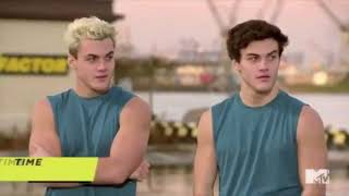 grayson and ethan dolan twins on mtv fear factor! 2018 season 2 episode 14