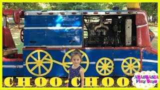 Country Park train rides for kids choo choo Anastasia play toys family fun