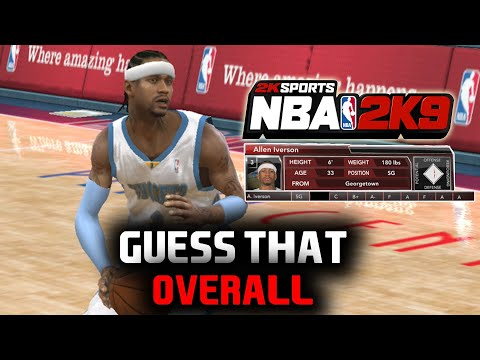 GUESS THAT OVERALL (NBA 2K9 Edition) CHOOSE MY FORFEIT!