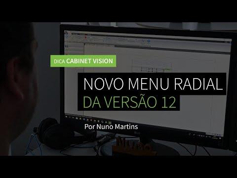 Dica 13 CABINET VISION | Novo Menu Radial da Versão 12