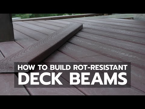 How To Build Rot Resistant Deck Beams Youtube