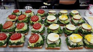 신선한 재료! 매일 대량으로 만드는 샌드위치 / Ham…