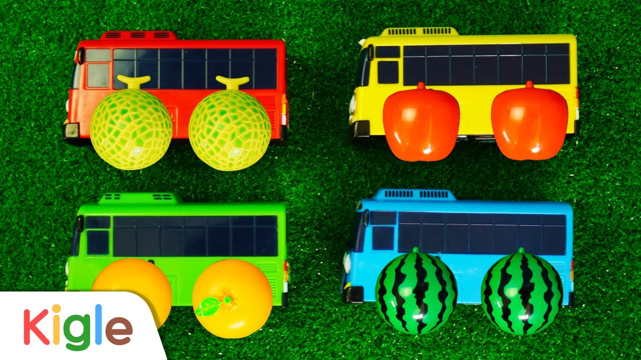 타요 바퀴가 과일로 변했어요   장난감 중장비 포크레인 트럭 레미콘 자동차 변신 로봇   타요 어벤져스 이어보기 21화~23화   꼬마버스 타요   KIGLE TV   키글TV