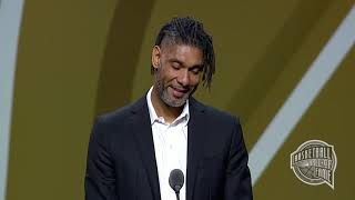 Tim Duncan's Basketball Hall of Fame Enshrinement Speech