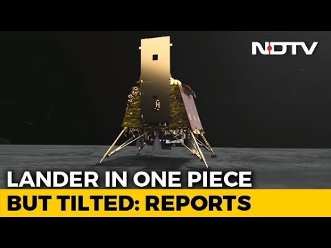 """Lander Vikram In Single Piece, In Tilted Position"": ISRO Official"