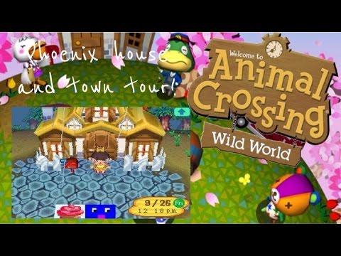 Animal Crossing Wild World - Phoeix House & Town Tour