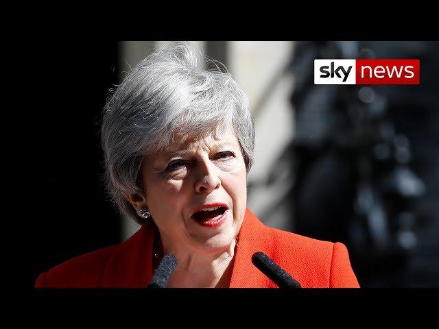 Watch Theresa May's resignation speech in full