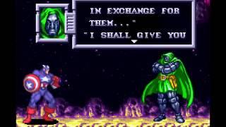 Marvel Super Heroes - War of Gem - ASTEROID BELT Stage (SNES)
