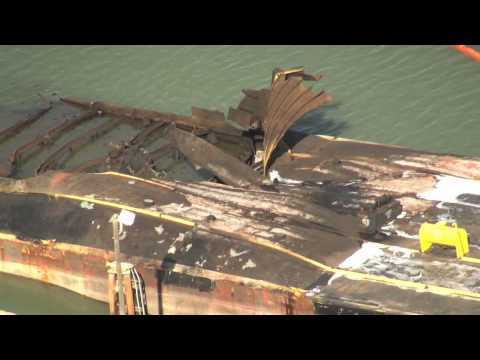 Coast Guard responds to crude oil barge explosion
