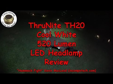ThruNite TH20 Cool White 520 Lumen LED Headlamp Review