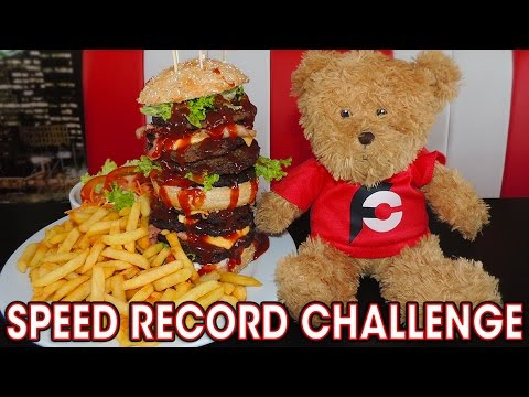 SPEED RECORD BURGER CHALLENGE IN BELGIUM!!