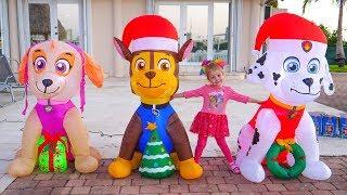 Игрушки Надувные Щенячий Патруль Готовимся к новому году Влог для детей Christmas Toys Paw Patrol