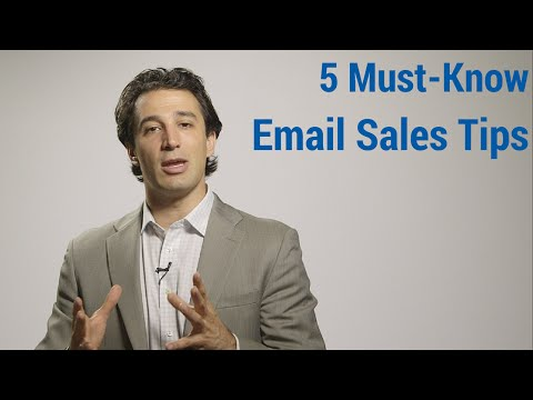 5 Must-Know Email Sales Tips