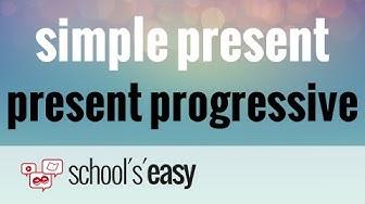 Englische Zeiten: simple present und present progressive/continuous