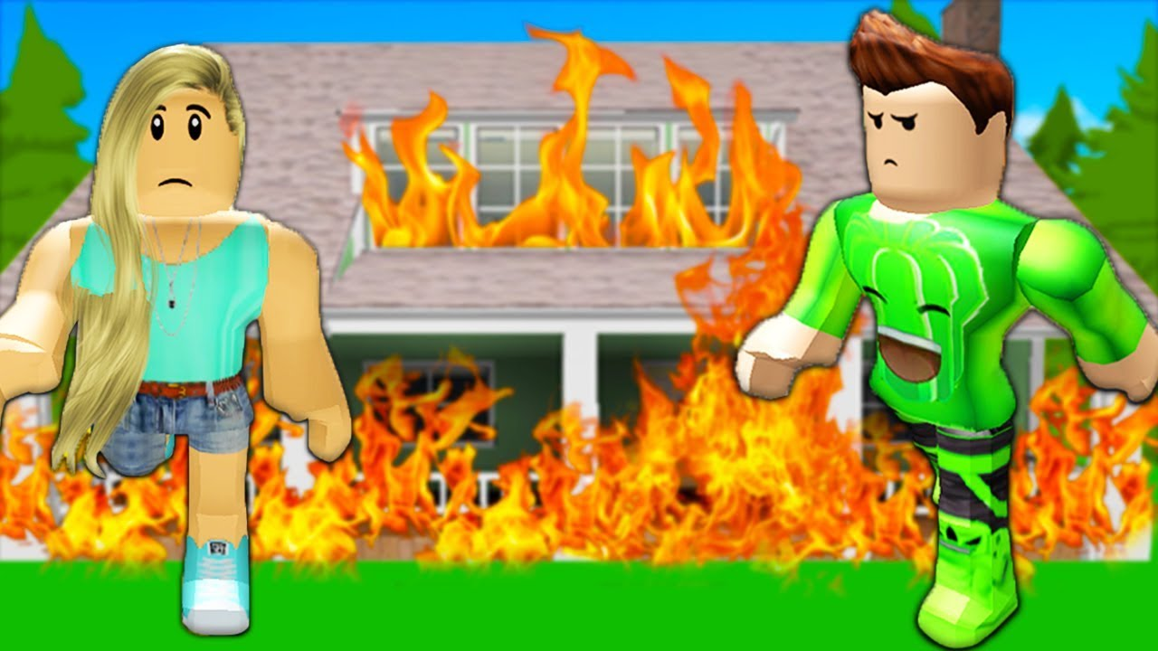 Our House Is On Fire Roblox W Jelly Youtube
