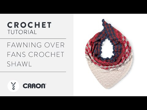 Crochet Fan Stitch Shawl With Caron X Pantone Bamboo Yarn Triangle