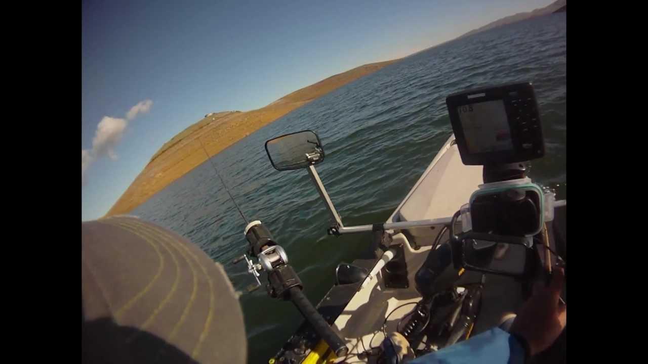 Kayak fishing san luis reservoir pov youtube for San luis reservoir fishing report