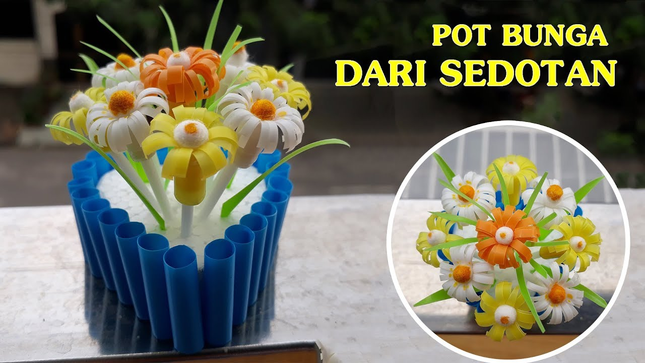 Cara Membuat Pot Bunga Gantung Dari Barang Bekas Creative World How To Make Flower Pots From A Straw Best Women S Day Gifts