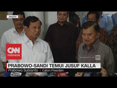 Prabowo-Sandi Temui Jusuf Kalla
