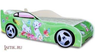 Детская кровать-машина Китти. Интернет-магазин