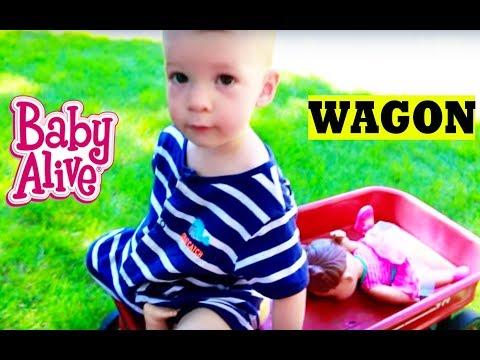 Baby Alive BABY ATTACK 6 Worlds Biggest CRAZY Wild Baby Stroller CRASH Baby Alive Boo Boo Doll