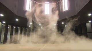 See how tornado turns debris into missiles