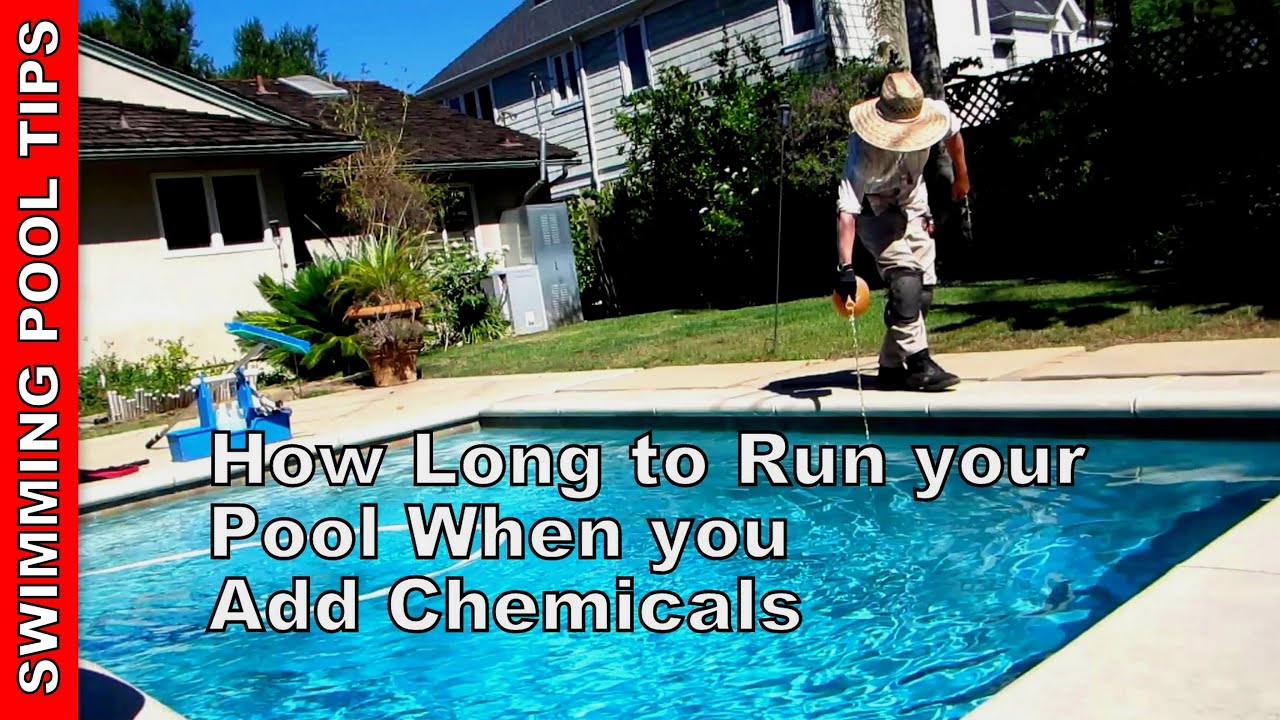 How Long To Run Your Pool When You Add Chemicals How To Set Your Timer Youtube