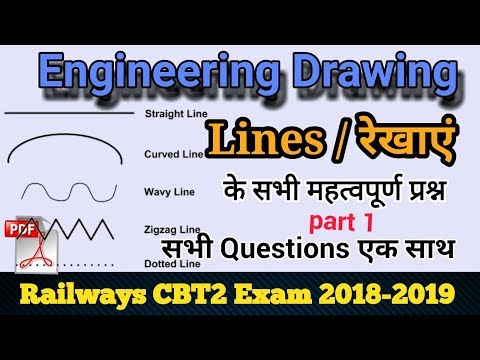 Railway CBT2 Exam Engineering Drawing Line (रेखा) || Engineering drawing Line important question
