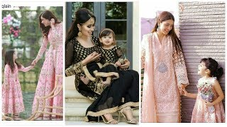 Mom & Kids Matching outfits #Daughter mother same stylish look