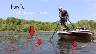 Finding crappie in spring (spawning areas)